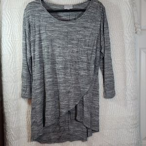 Soft Surroundings heather gray wrap tunic, size L